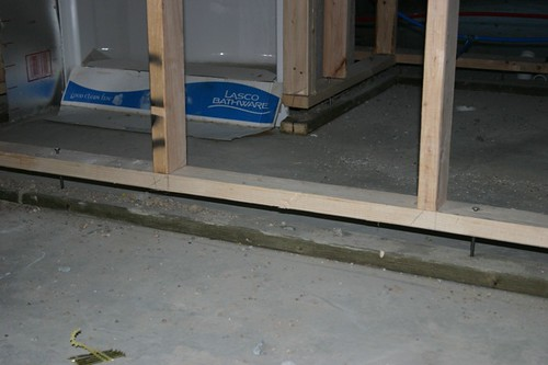 Floating wall flickr photo sharing for How to build floating walls in basement