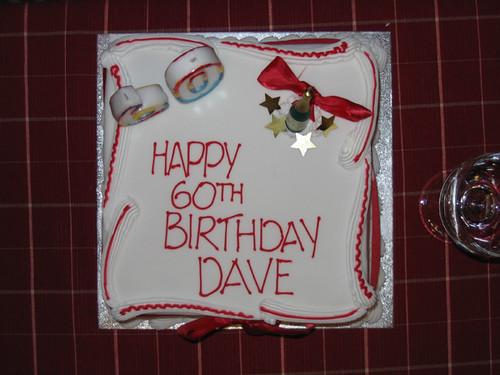 Sixtieth Birthday Cake