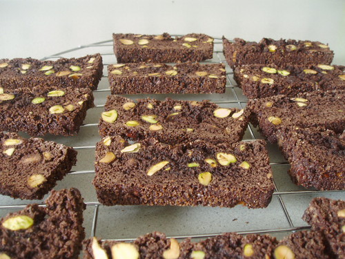 Chocolate & pistachio biscotti 001