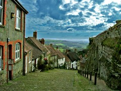 At the top of Gold Hill, Shaftesbury