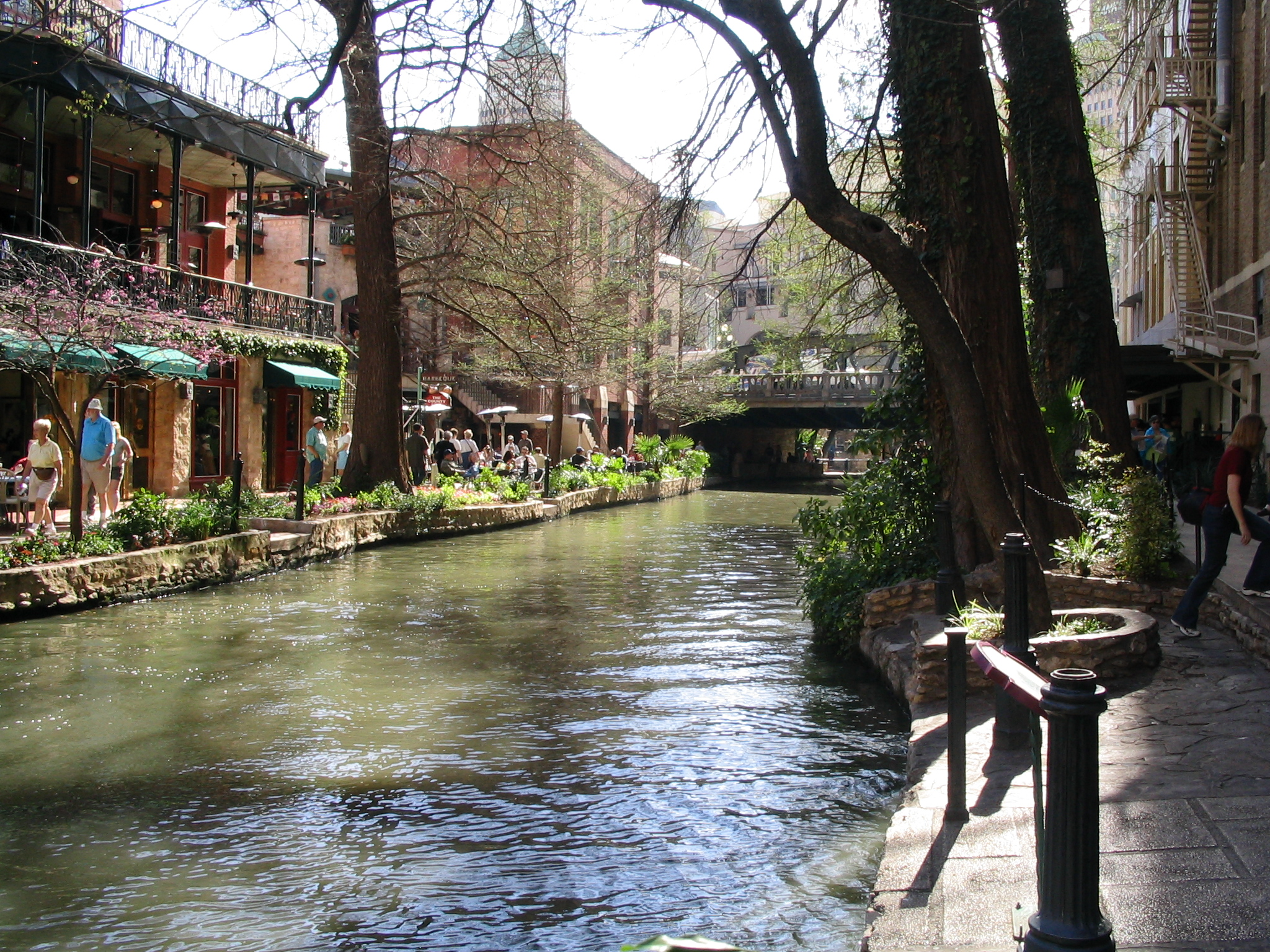 San Antonio Riverwalk & Torch of Friendship, Gift of Mexico