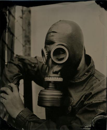 Gasmask Tintype