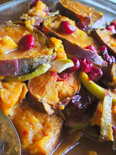 yams with granny smith apples and cranberries