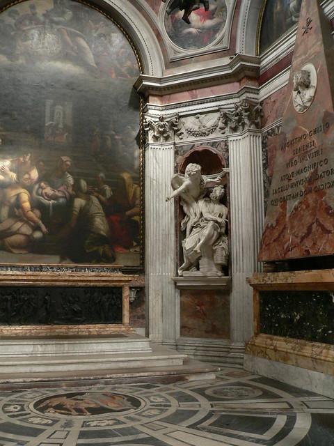 the chigi chapel in rome