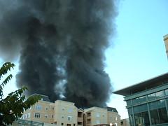 smoke, sky, explosion,
