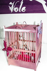 furniture, cage, pink,