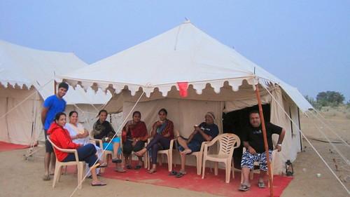 Camping in Desert