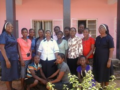 Twelve young women attend a recent Aspirants Weekend in Zonkwa, Nigeria