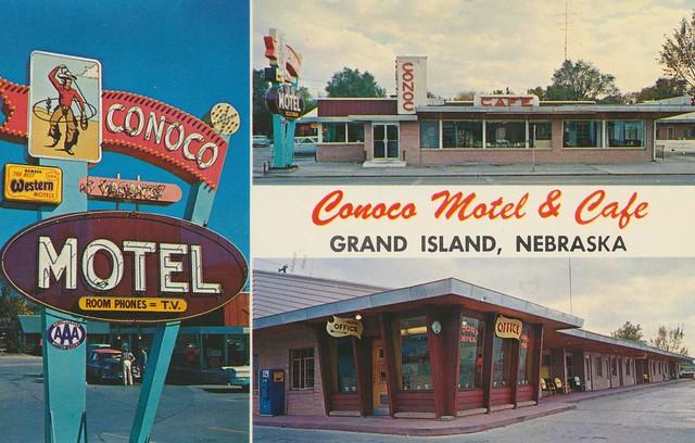 Conoco Motel and Cafe - 2107 West 2nd Street, Grand Island, Nebraska U.S.A. - 1950s