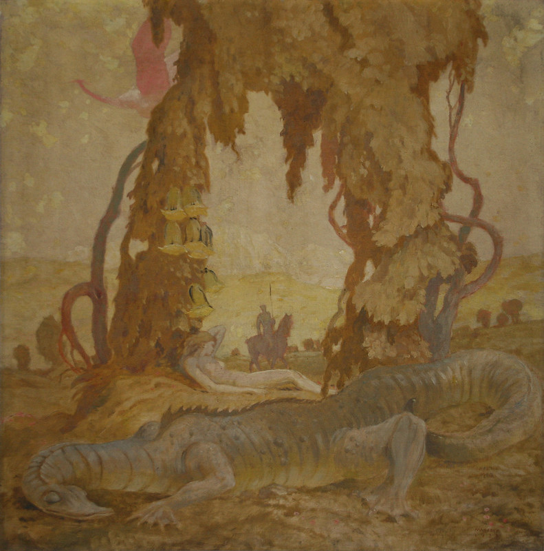 Max Frey - Drachen Jungfrau Ritter, 1933