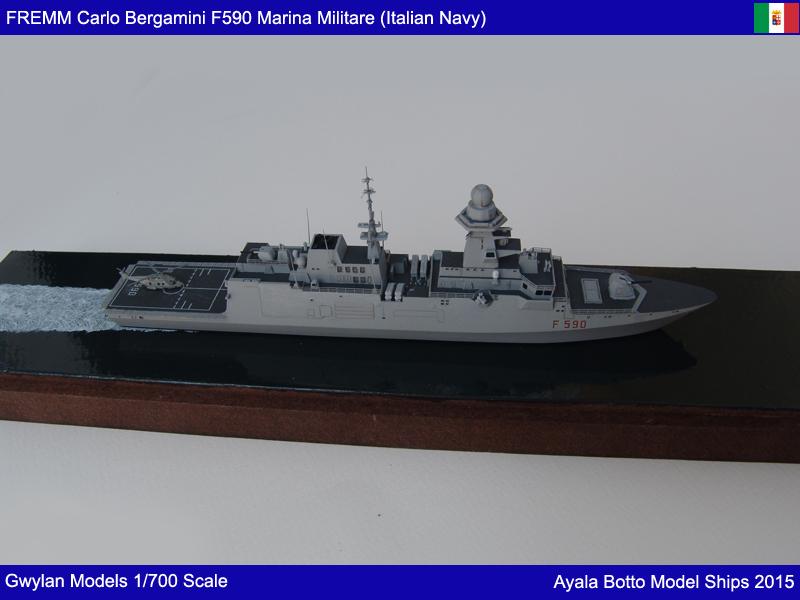 FREMM Carlo Bergamini F590 Frégate - Gwylan Models 1/700 19588572750_630589e281_o