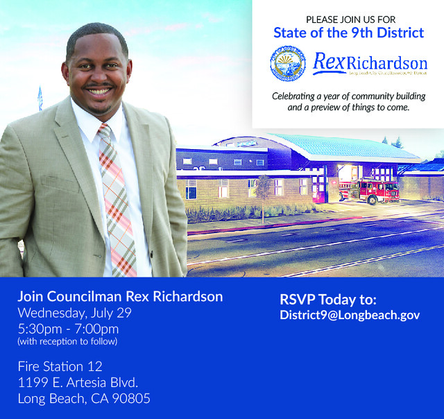 Rex Richardson State of the District Save the Date