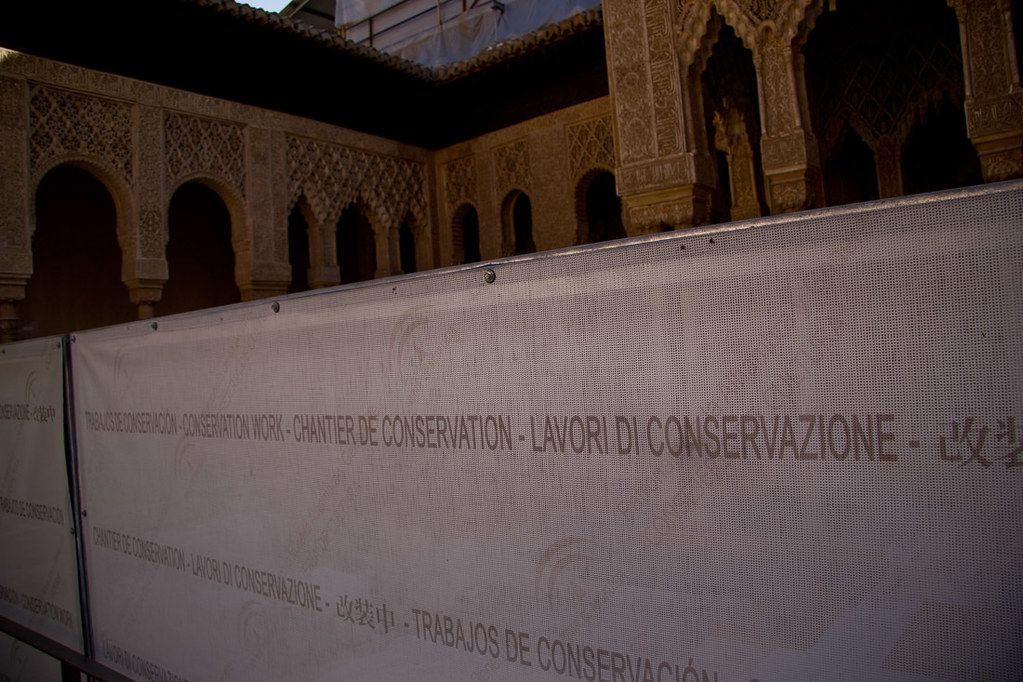 Restoration work at the Alhambra