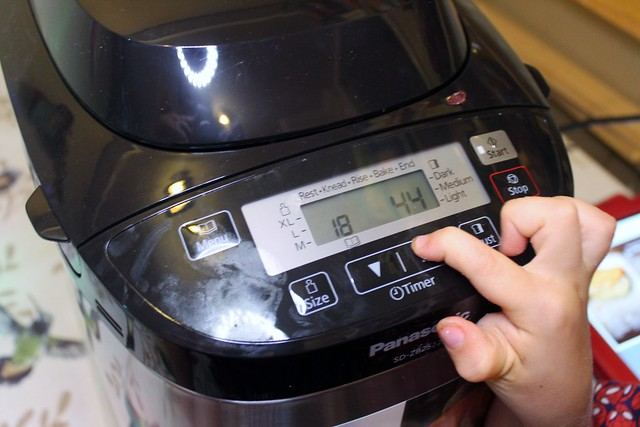 panasonic breadmaker setting the timer