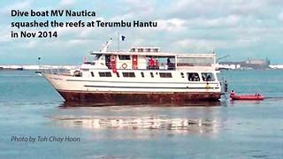 Boat strike at Terumbu Hantu