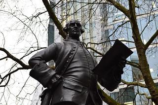 Immagine di John Wilkes. johnwilkes statue fetterlane politician