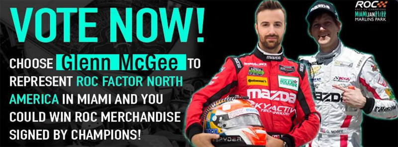 Vote Glenn McGee for the Race of Champions