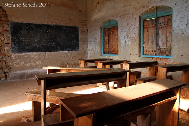 Classroom during winter holidays - Lake Bunyonyi, Uganda