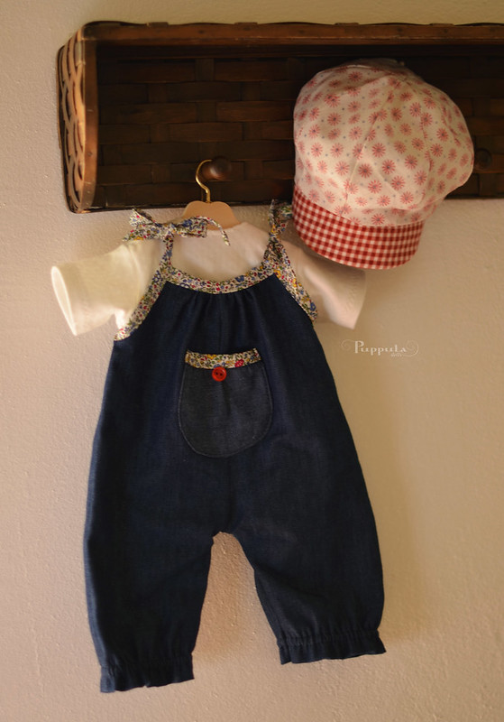 Denim overalls set for a 17/18inch doll