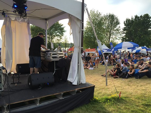DJ at Bluesfest Ottawa, 2015