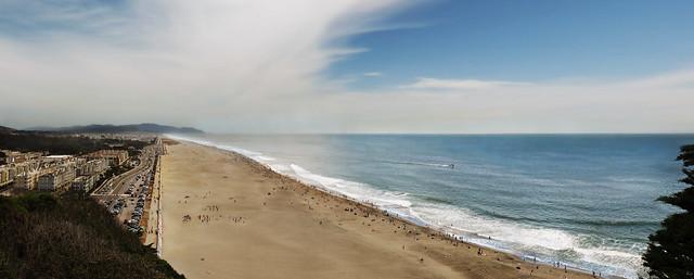 Sunday at Ocean Beach, San Francisco POV Sutro Park, The Richmond;  July 19, 2015