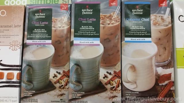 Archer Farms Chai Latte and Coconut Chai Black Tea Concentrate