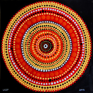2 Aboriginal Style Dot Painting - Laura