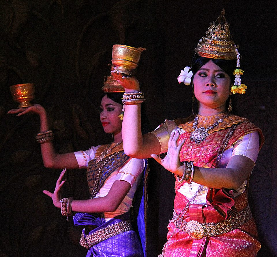 Apsara dance begins with a greeting and welcome performance