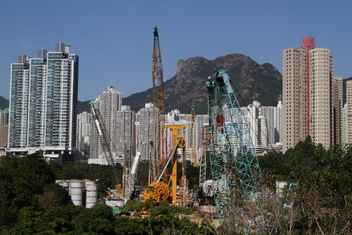 Shatin to Central link work site at Diamond Hill station