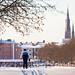 Skier, Uppsala, January 7, 2017 by Ulf Bodin
