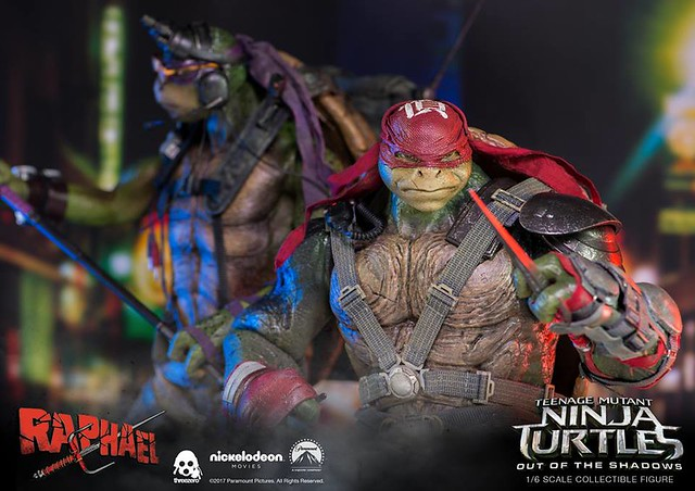 threezero 忍者龜:破影而出【拉斐爾】Teenage Mutant Ninja Turtles Raphael 1/6 比例人偶作品