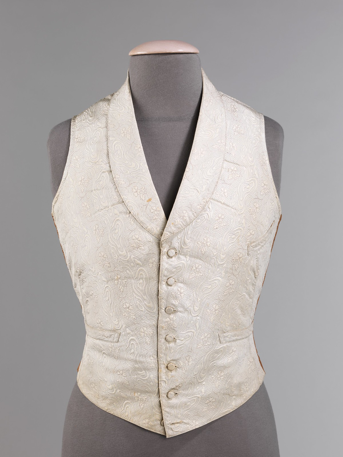 1850. American. Silk, cotton. metmuseum
