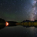 Four Elements:  Earth, Water, Air, and Fire - Grand Teton Nightscape Astrophotography by astroval1