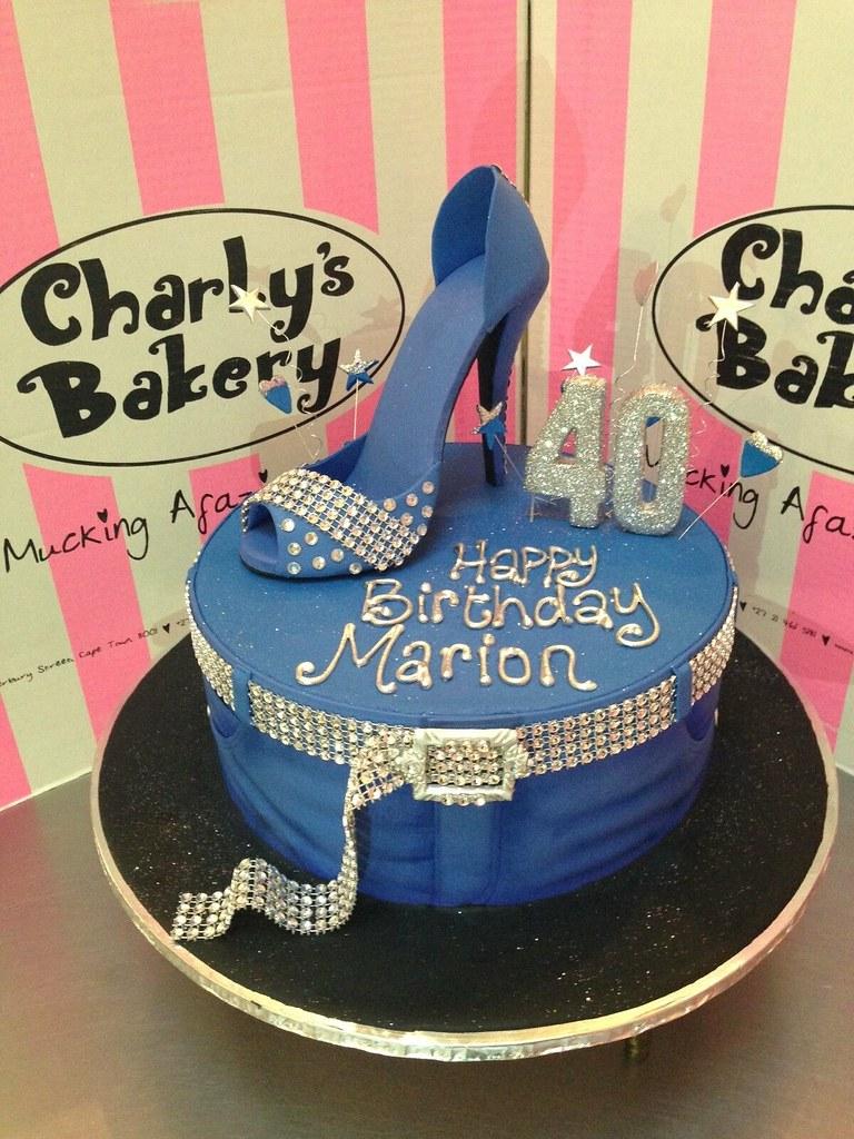 Denim U0026 Diamonds Themed 40th Birthday Cake With Jeans Themed Decorations,  Bling Belt, U0026
