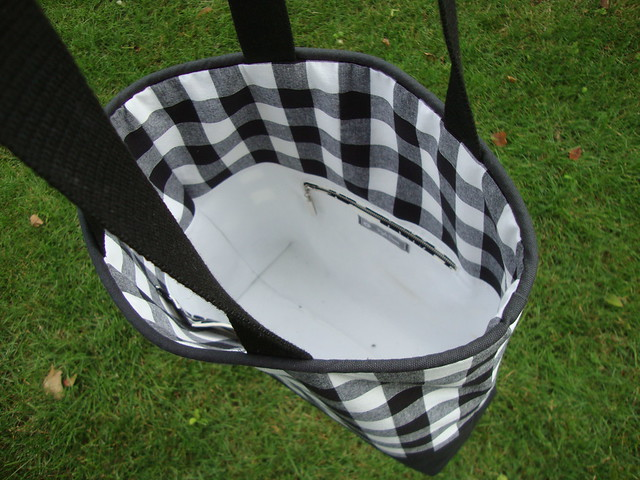Gingham tote bag