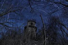 Les ruines de la Tour de Charbonnières au clair de Lune - Nuit du 07 au 08 mars 2015