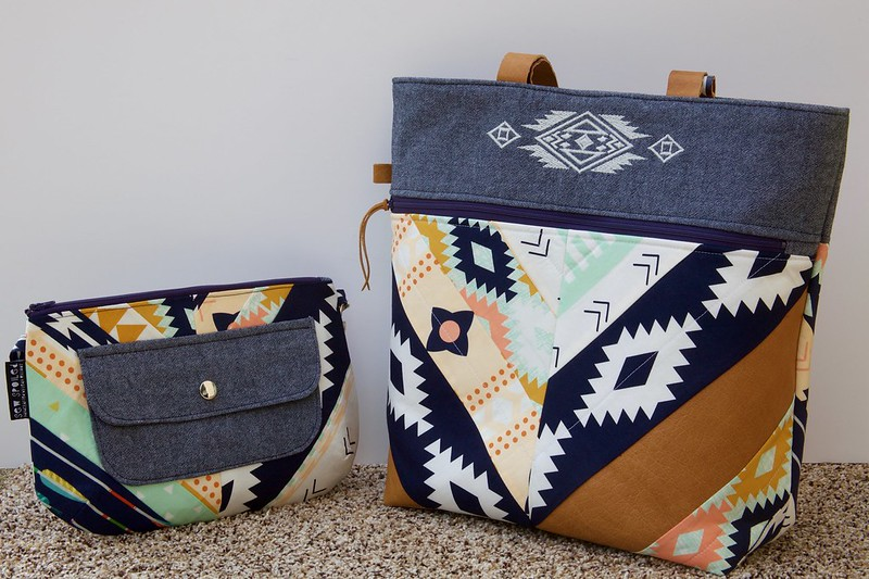 Caravan Tote and Pouch