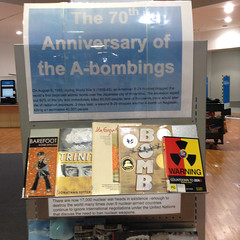 70th Anniversary of A-Bombings display at Linwood Library at Eastgate