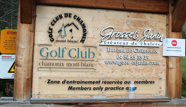 golf club chamonix les praz