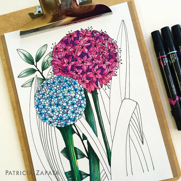 Flower Nook - A Coloring Book
