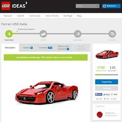 Ferrari 458 Italia on LEGO Ideas