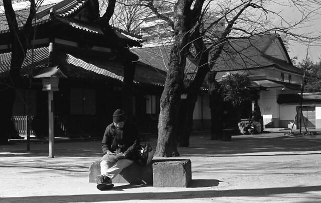 Man reading something