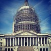 Hanging out in D.C. yesterday. East side of the U.S. #Capitol with #dome under restoration. #WashingtonDC