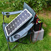 SOLAR 20 watt panel charging made in Japan approx 1amp on peak