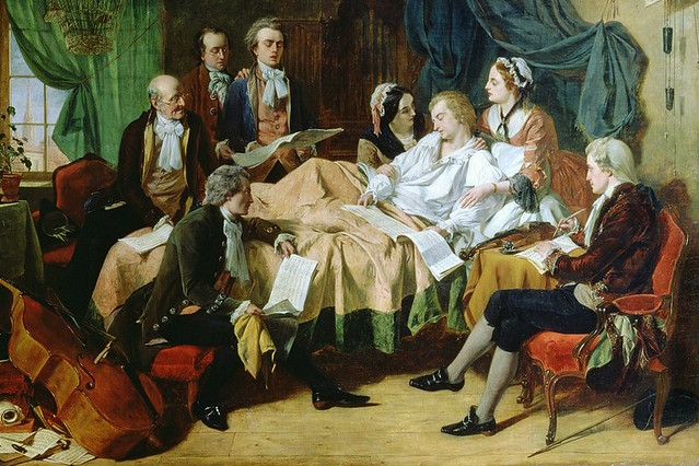The Last Hours of Mozart by Henry Nelson O'Neil, 1849. Image courtesy Wikicommons