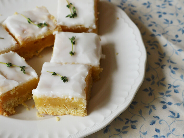 lemon and thyme bars