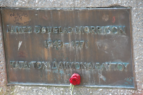 Jim Morrison's Grave and a rose