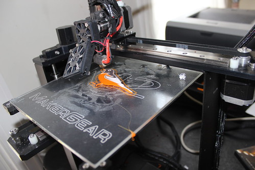 3D Printed Birds - Oriole in Action - After White Layer, the Black is Just Starting
