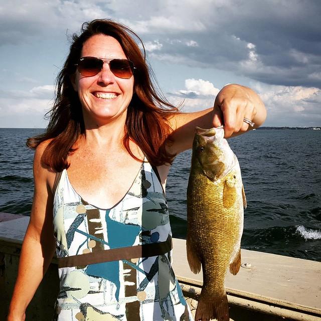 Chelle's first smallmouth!  #fishin  #bass  #fishing #largemouth  #largemouthbass