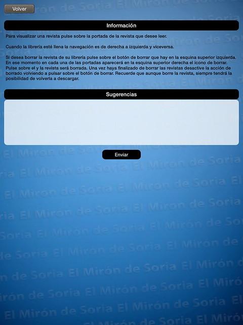 Información de como usar la App